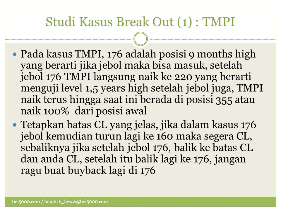 Studi Kasus Break Out (1) : TMPI