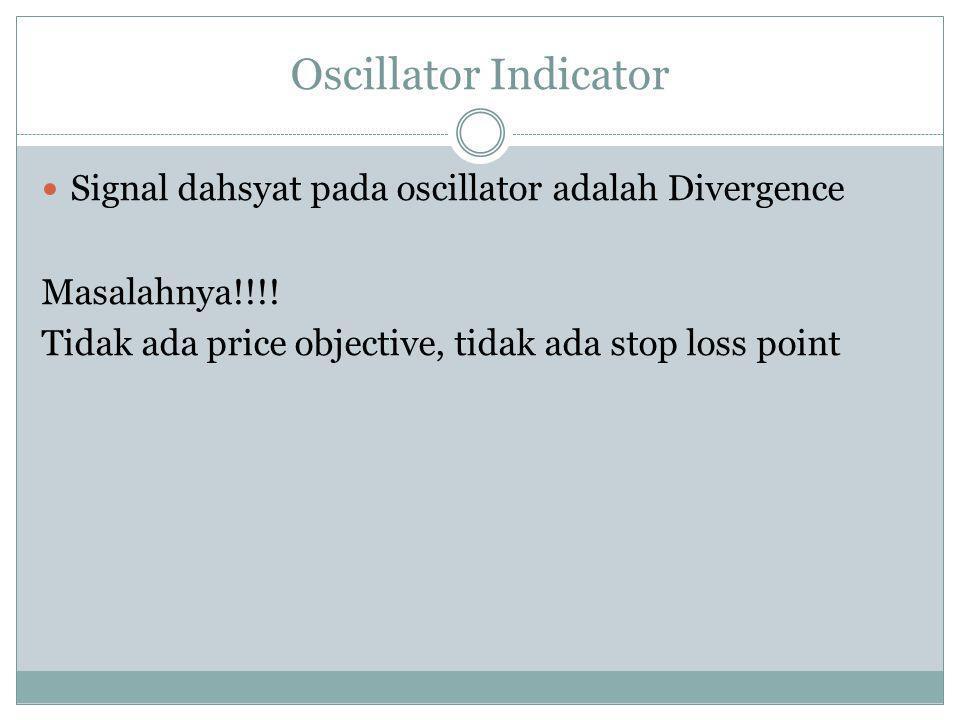 Oscillator Indicator Signal dahsyat pada oscillator adalah Divergence