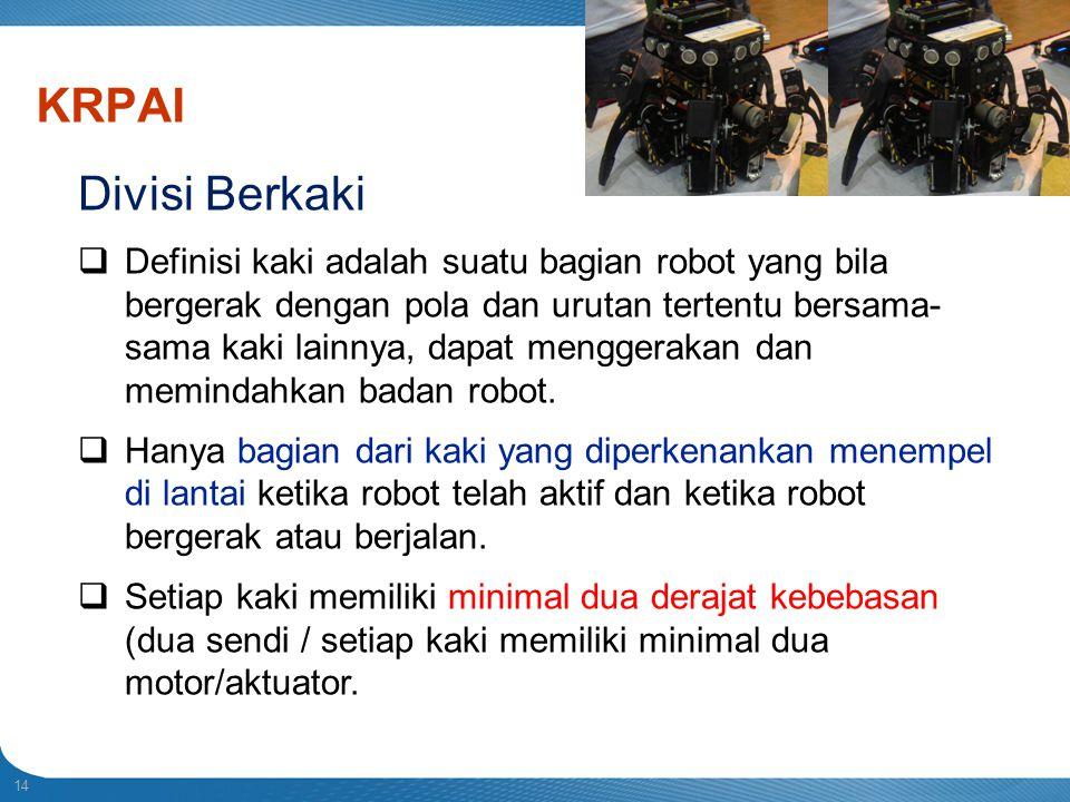 Indonesian Robot Contest. 2013. KRPAI. Divisi Berkaki.