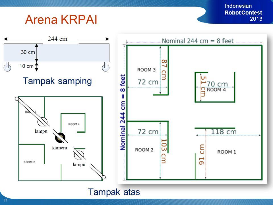 Indonesian Robot Contest 2013 Arena KRPAI Tampak samping Tampak atas