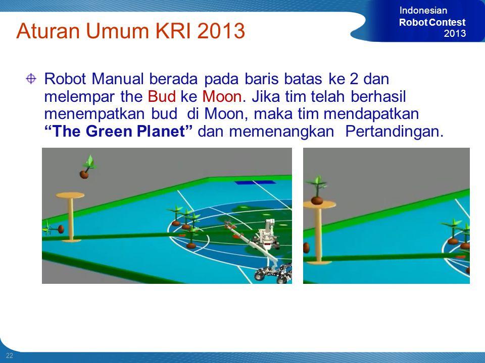 Indonesian Robot Contest. 2013. Aturan Umum KRI 2013.