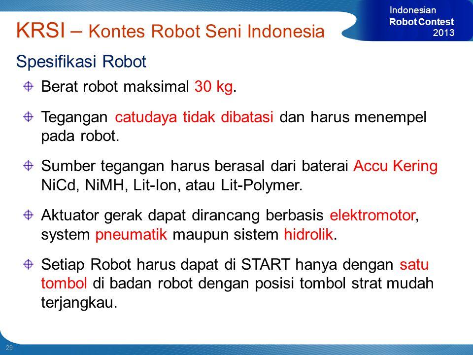 KRSI – Kontes Robot Seni Indonesia