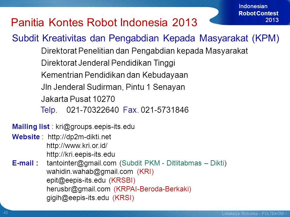 Panitia Kontes Robot Indonesia 2013