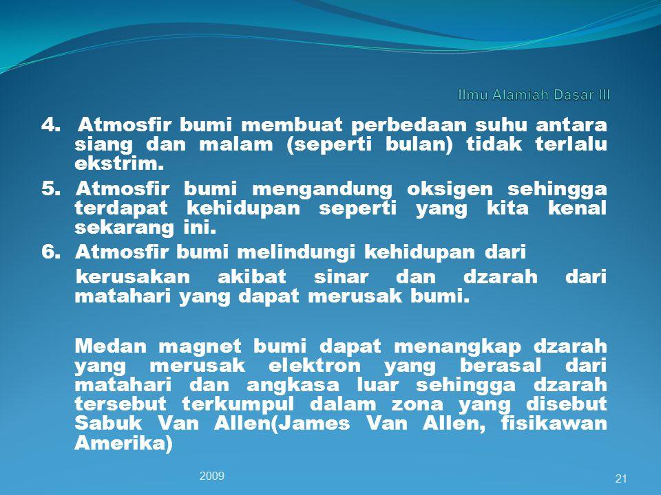 6. Atmosfir bumi melindungi kehidupan dari