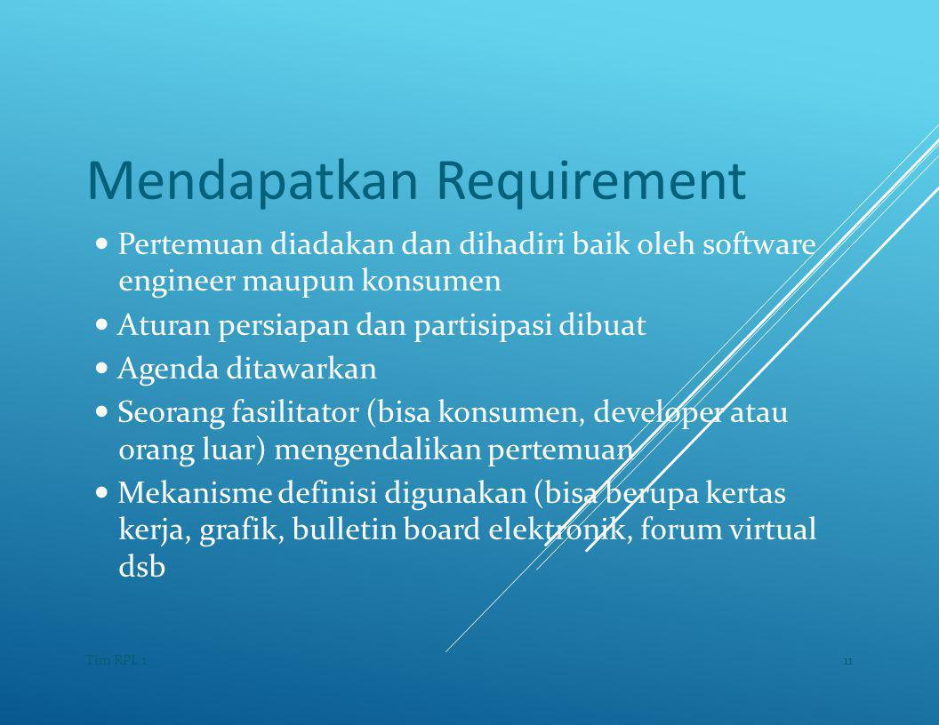 Mendapatkan Requirement