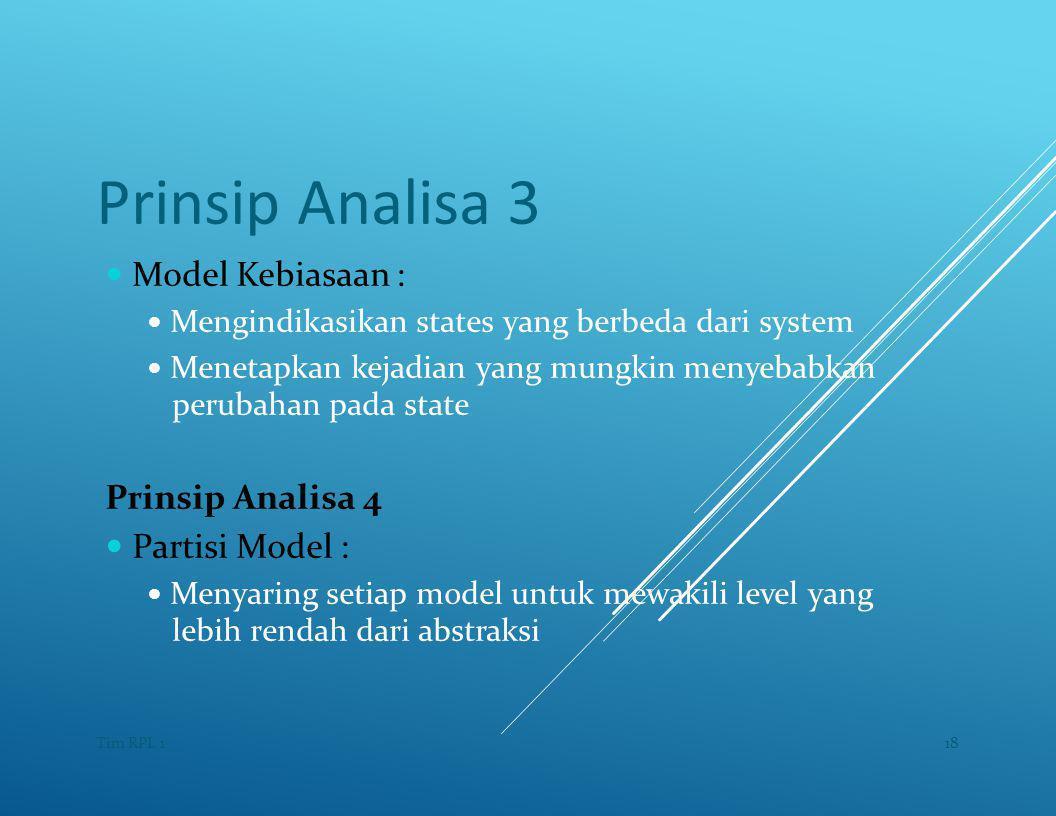 Prinsip Analisa 3 — Model Kebiasaan :
