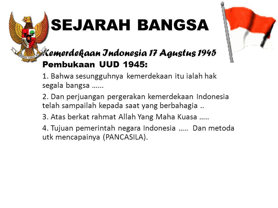 SEJARAH BANGSA Kemerdekaan Indonesia 17 Agustus 1945