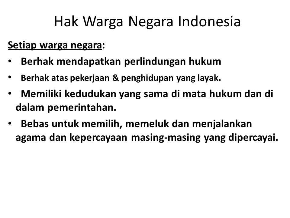 Hak Warga Negara Indonesia