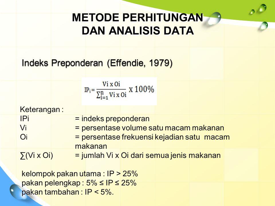 METODE PERHITUNGAN DAN ANALISIS DATA