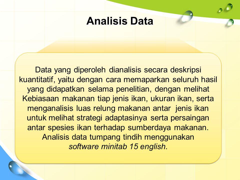 Analisis Data Data yang diperoleh dianalisis secara deskripsi