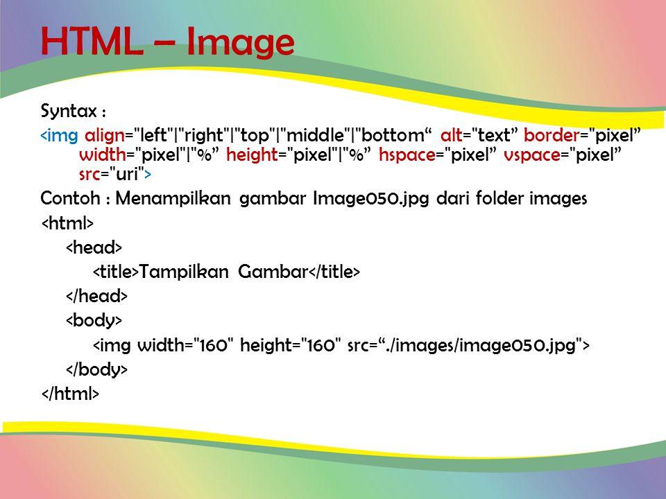 HTML – Image