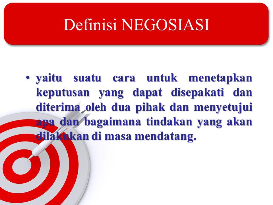 Definisi NEGOSIASI