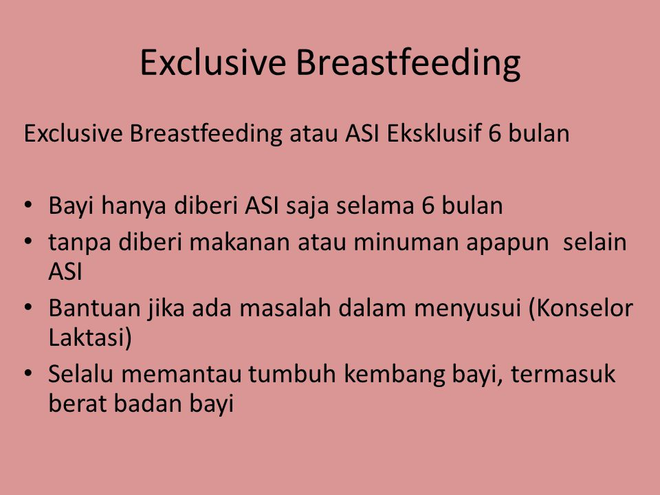 Exclusive Breastfeeding