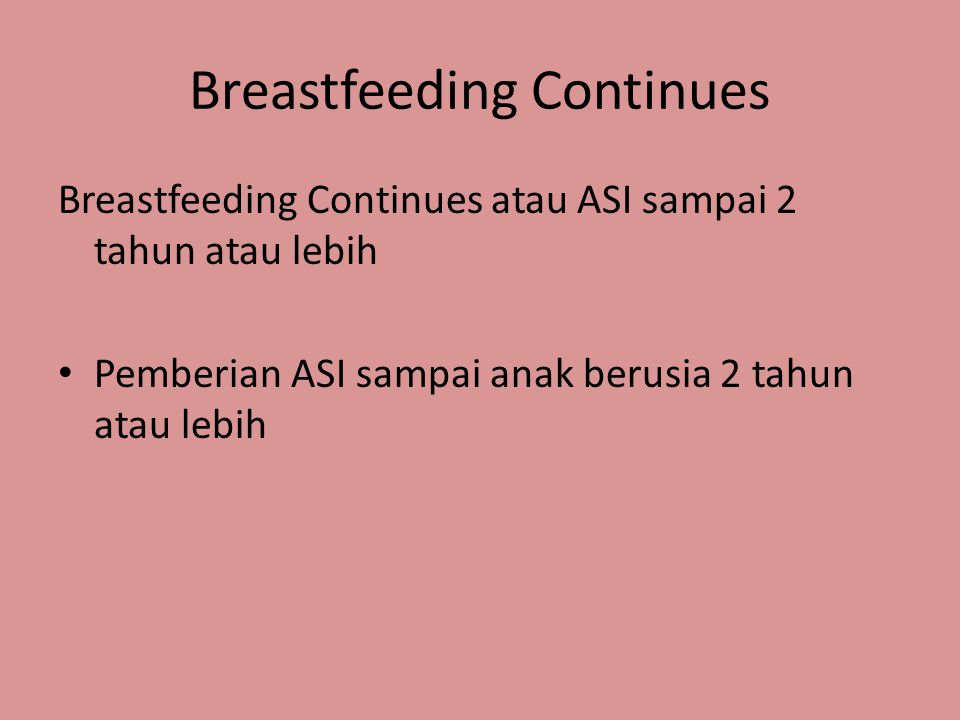 Breastfeeding Continues