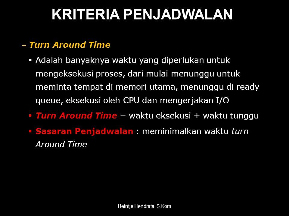 KRITERIA PENJADWALAN Turn Around Time