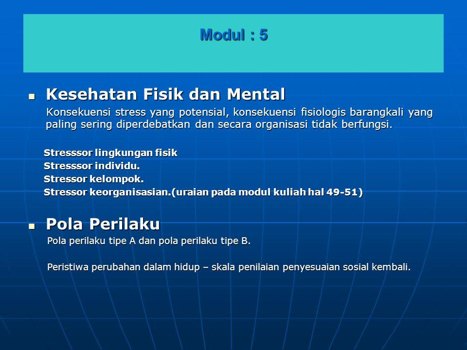 Kesehatan Fisik dan Mental