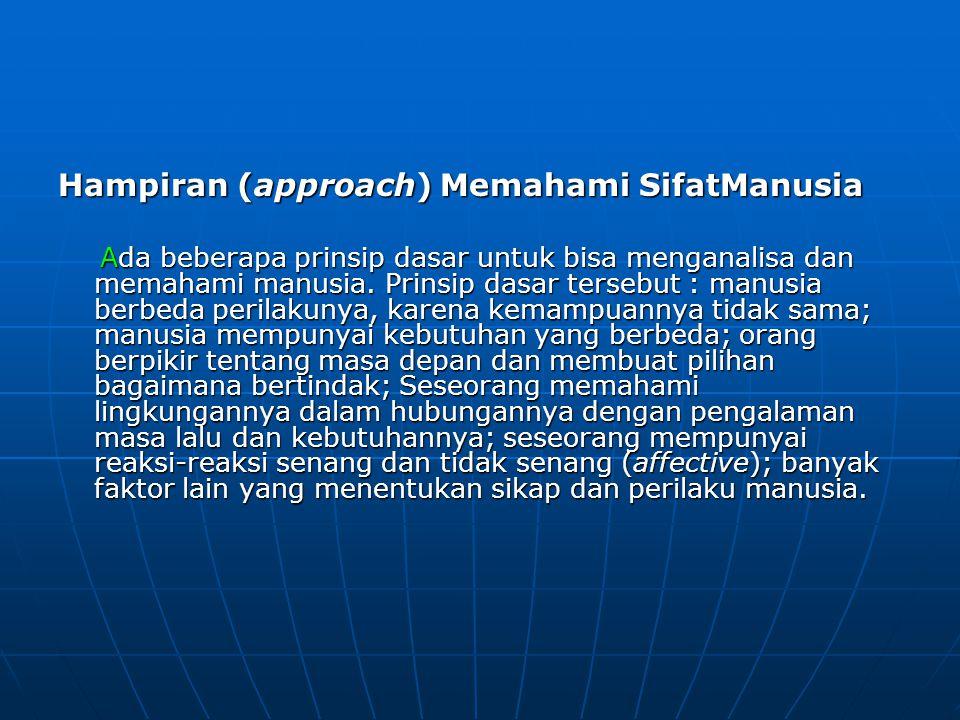 Hampiran (approach) Memahami SifatManusia