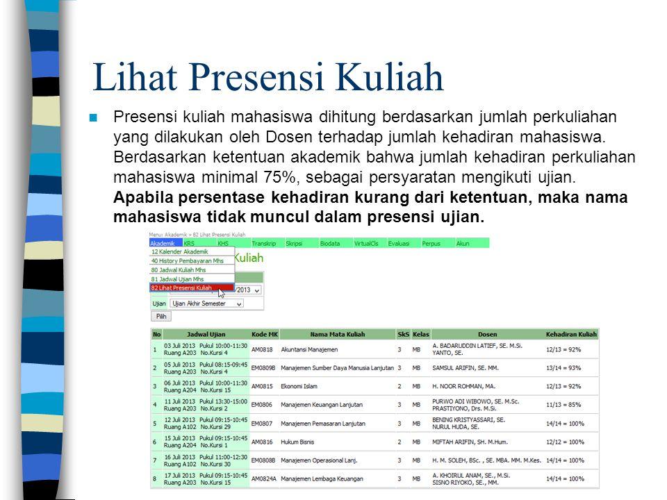 Lihat Presensi Kuliah