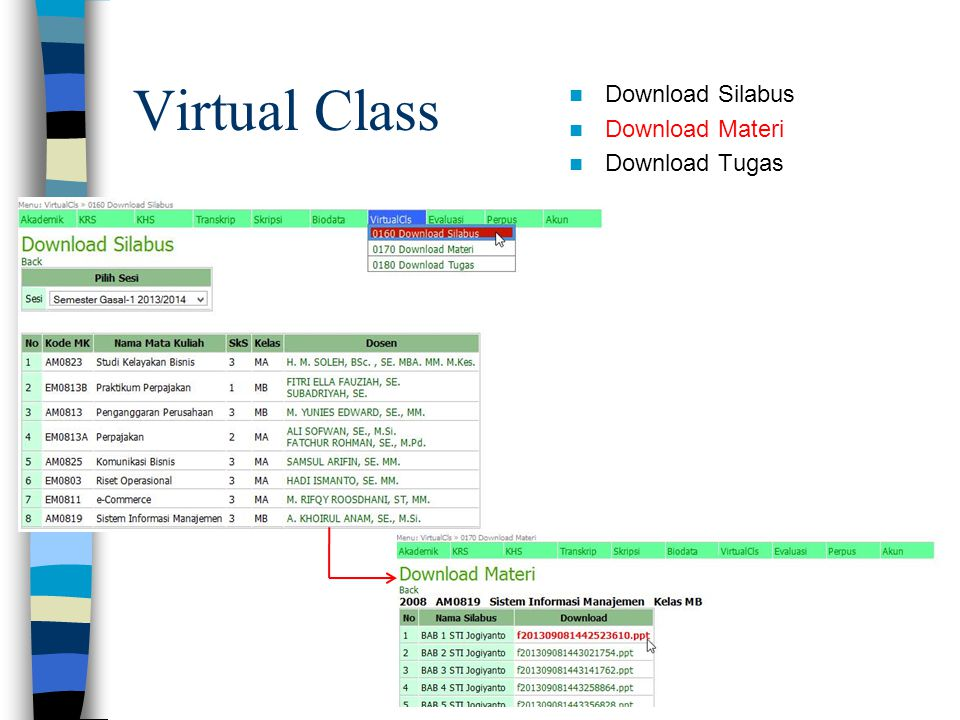 Virtual Class Download Silabus Download Materi Download Tugas