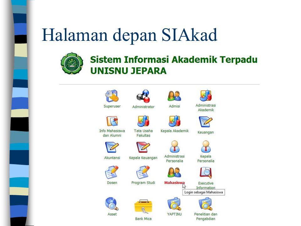 Halaman depan SIAkad