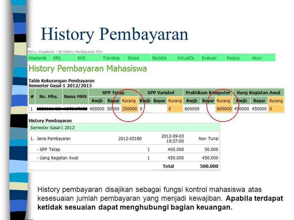 History Pembayaran