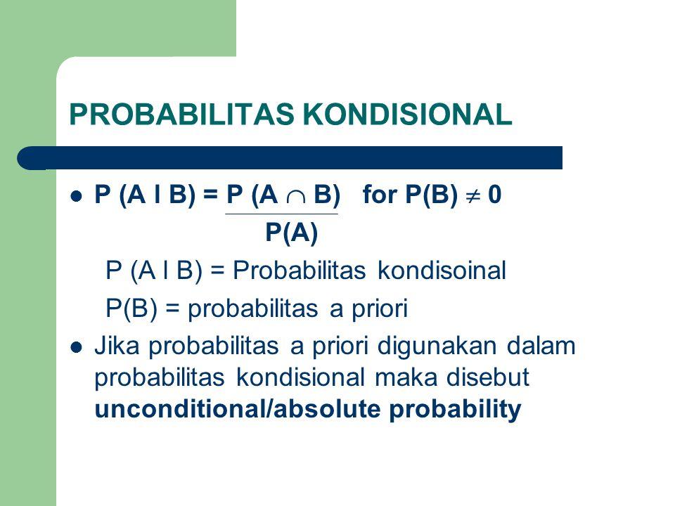 PROBABILITAS KONDISIONAL
