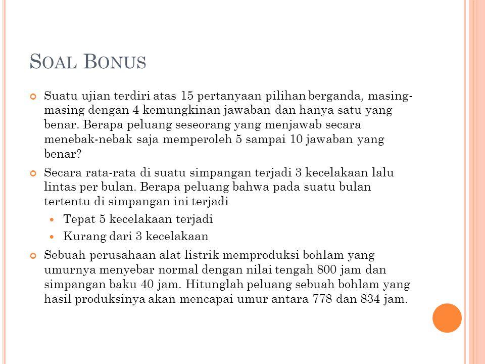 Soal Bonus