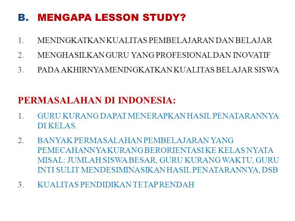 PERMASALAHAN DI INDONESIA: