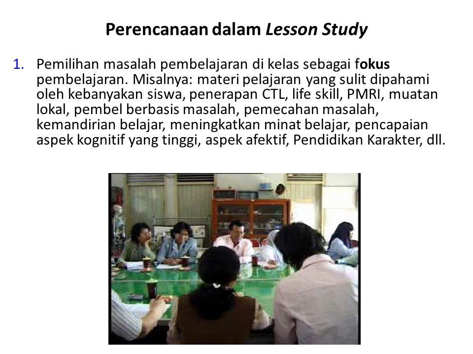 Perencanaan dalam Lesson Study
