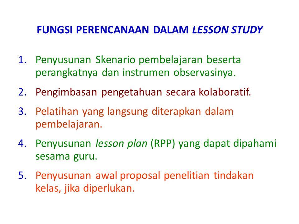 FUNGSI PERENCANAAN DALAM LESSON STUDY