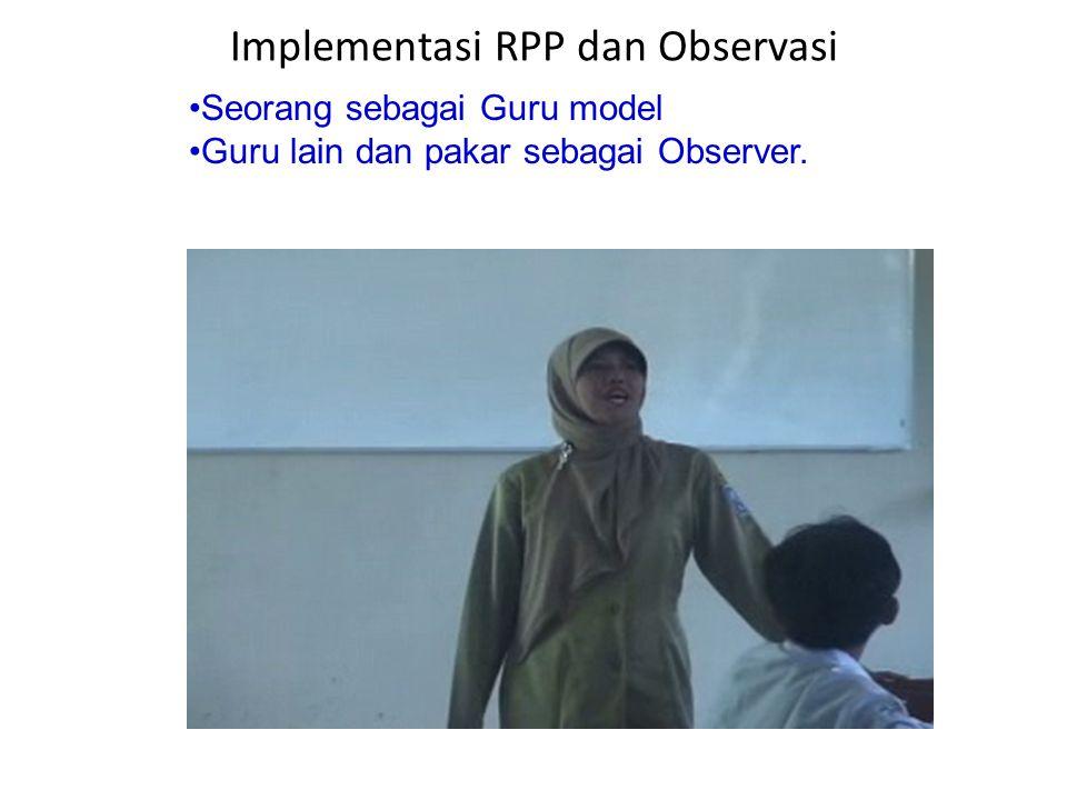 Implementasi RPP dan Observasi