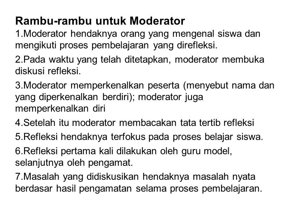 Rambu-rambu untuk Moderator