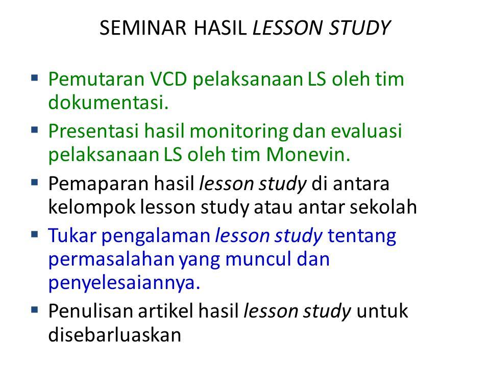 SEMINAR HASIL LESSON STUDY