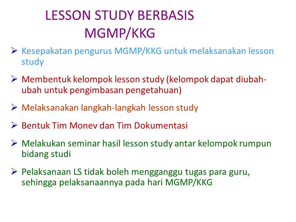LESSON STUDY BERBASIS MGMP/KKG