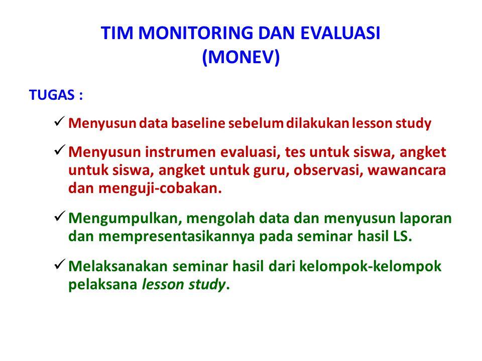 TIM MONITORING DAN EVALUASI (MONEV)