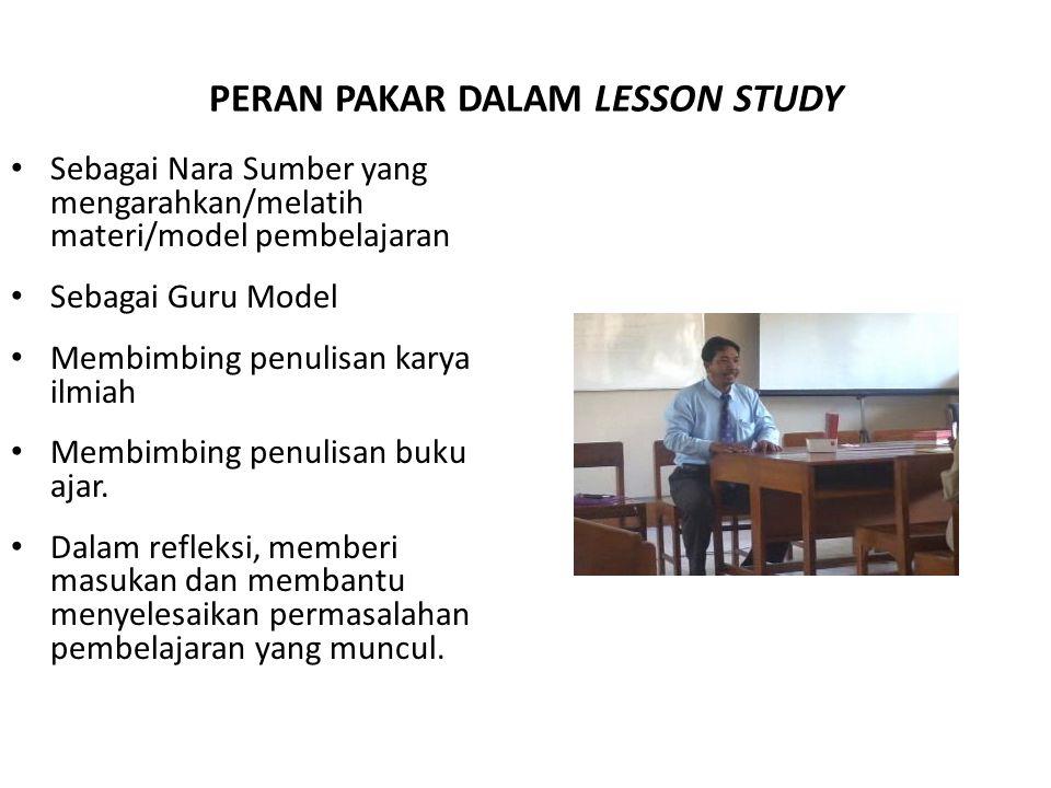 PERAN PAKAR DALAM LESSON STUDY