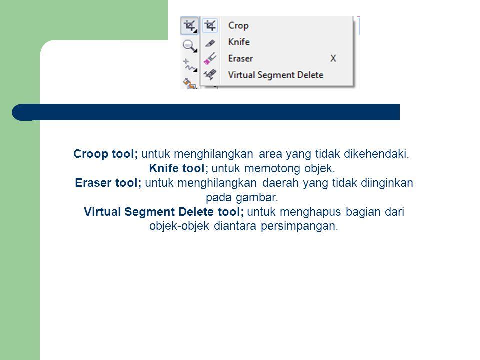 Croop tool; untuk menghilangkan area yang tidak dikehendaki.