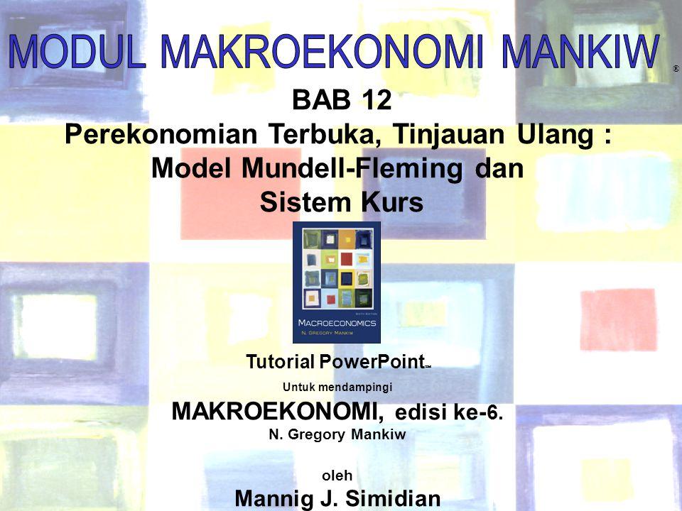 Perekonomian Terbuka, Tinjauan Ulang : Model Mundell-Fleming dan