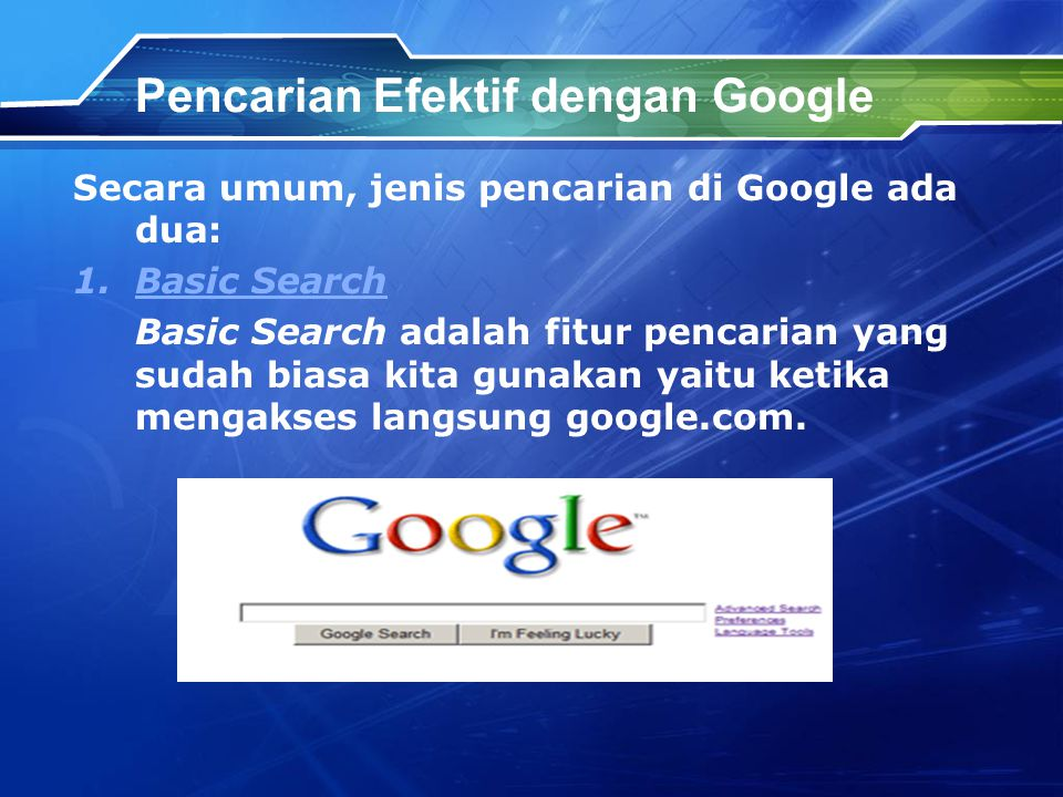 Pencarian Efektif dengan Google