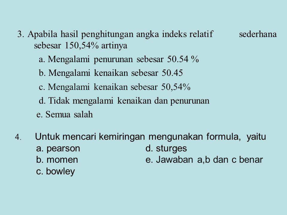 a. Mengalami penurunan sebesar 50.54 %