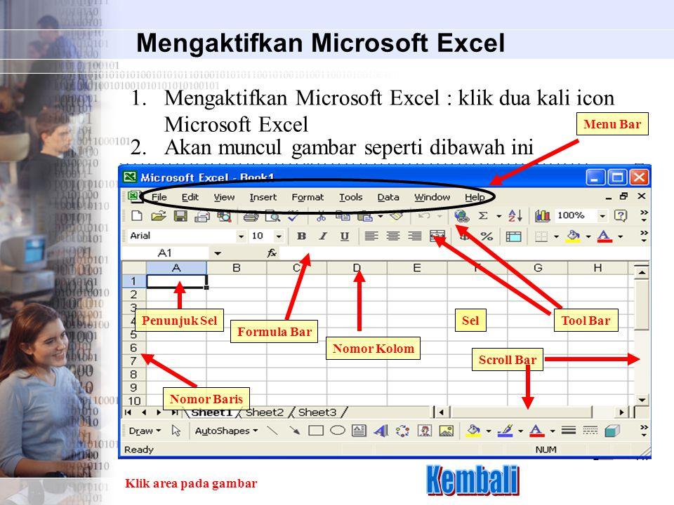 Mengaktifkan Microsoft Excel