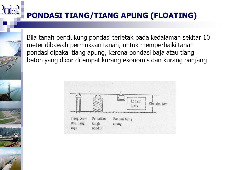 PONDASI TIANG/TIANG APUNG (FLOATING)
