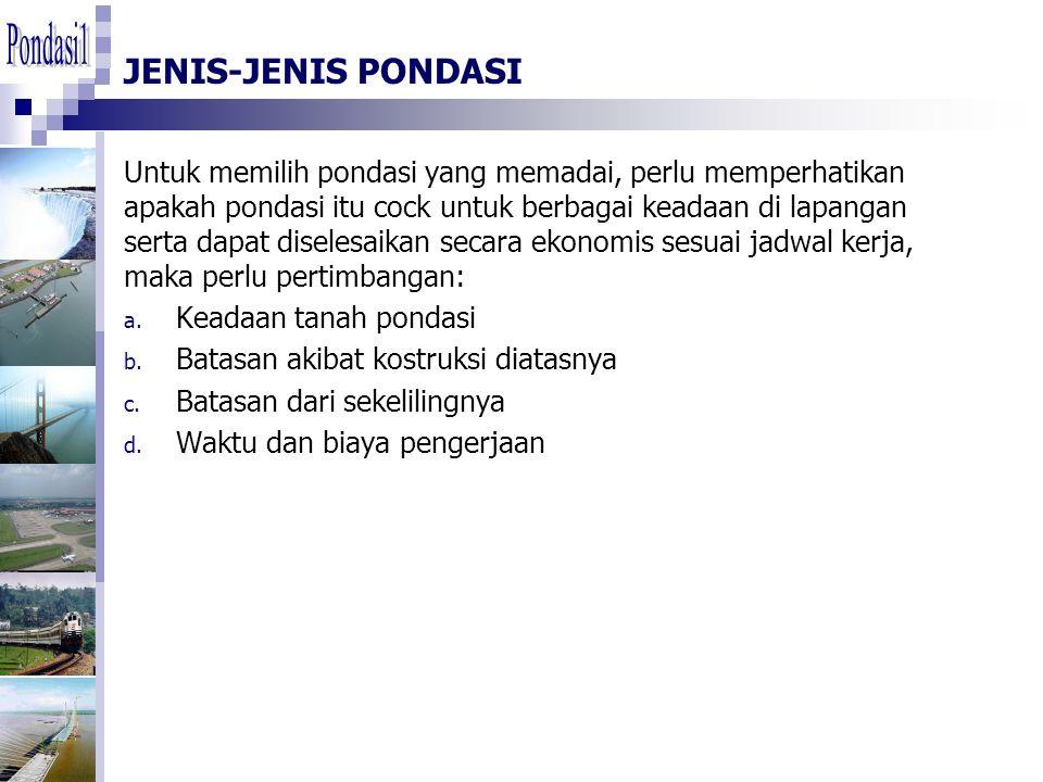 Pondasi1 JENIS-JENIS PONDASI.