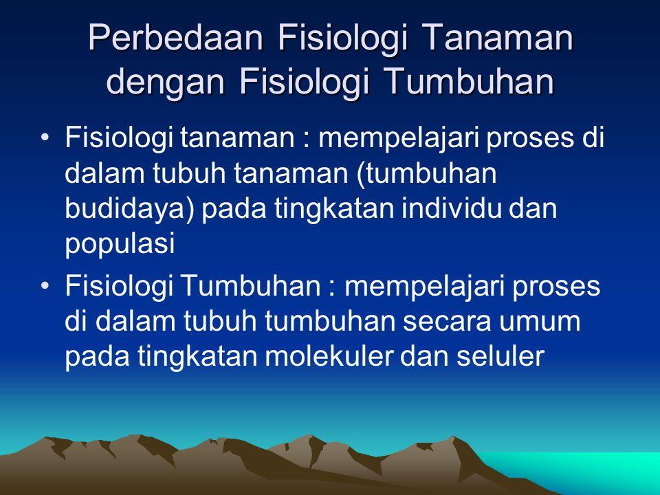 Perbedaan Fisiologi Tanaman dengan Fisiologi Tumbuhan