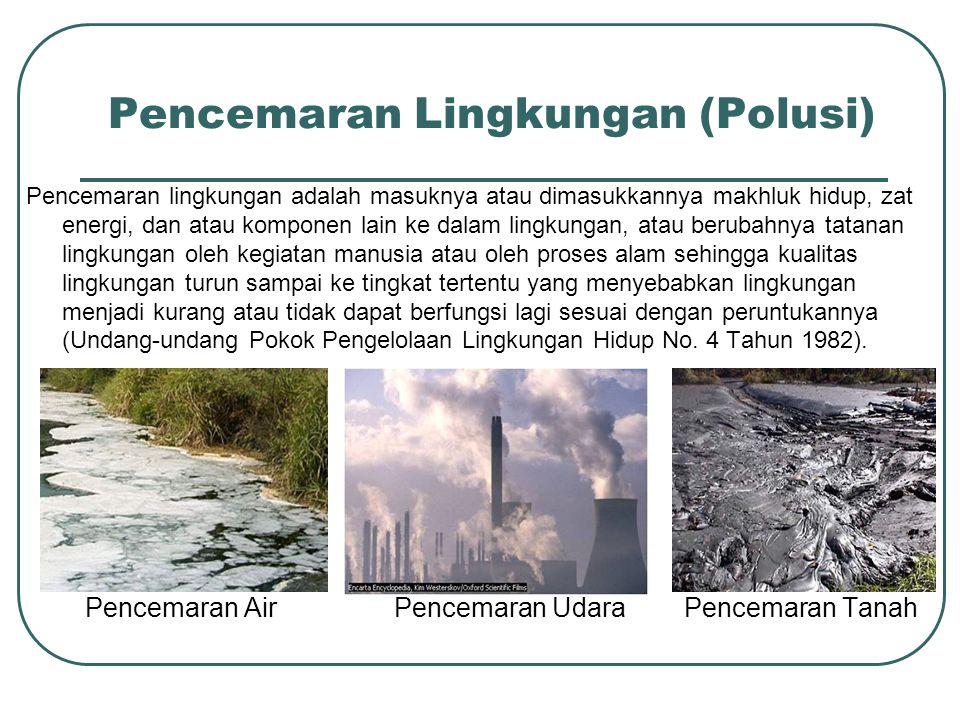 Pencemaran Lingkungan (Polusi)