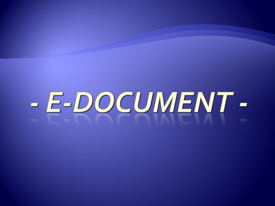 - E-DOCUMENT -