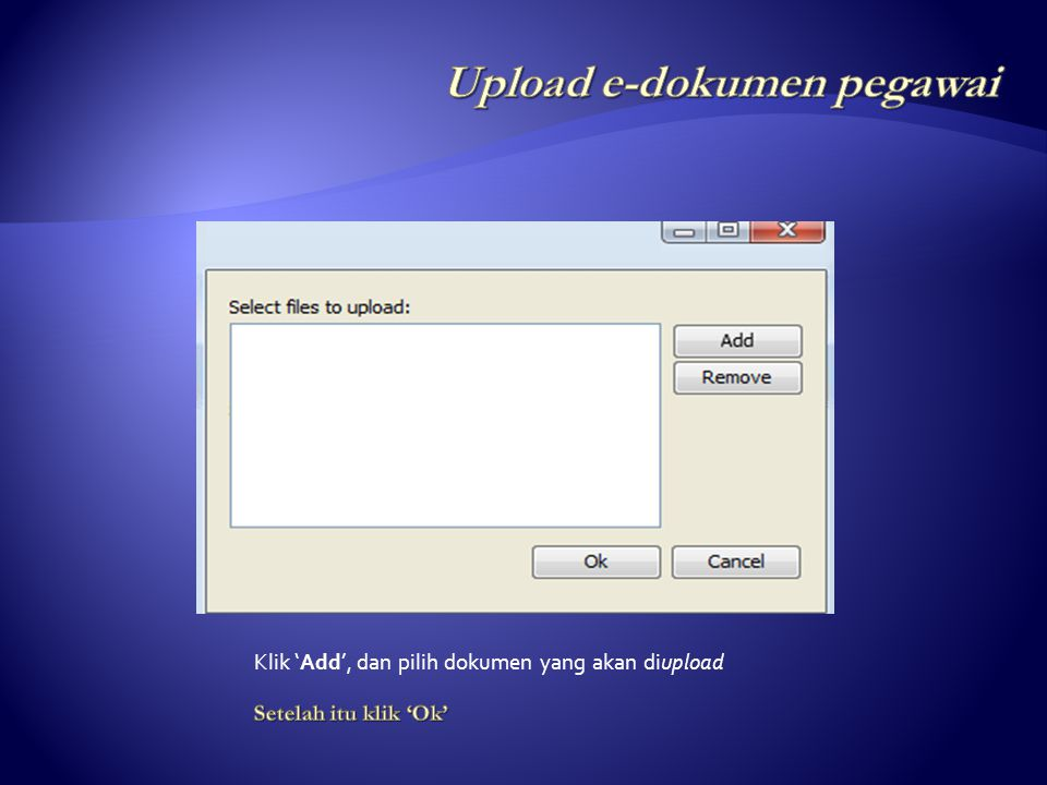Upload e-dokumen pegawai