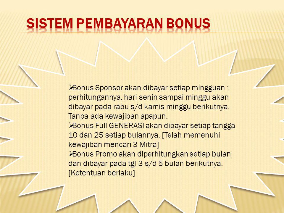 Sistem pembayaran bonus