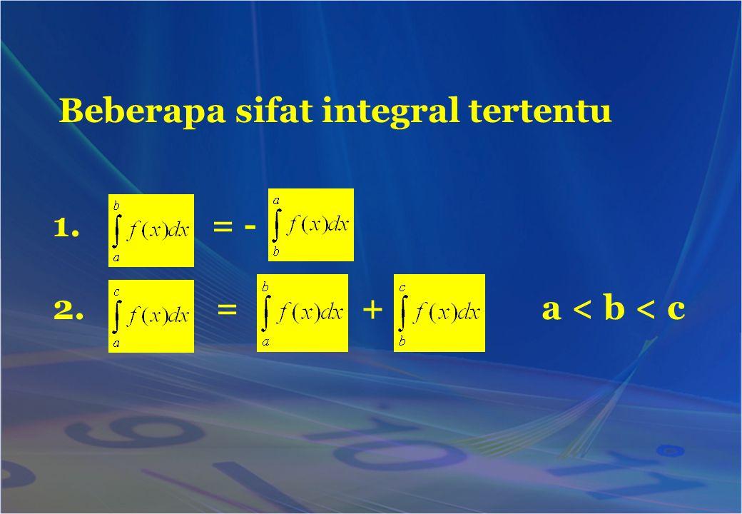 Beberapa sifat integral tertentu