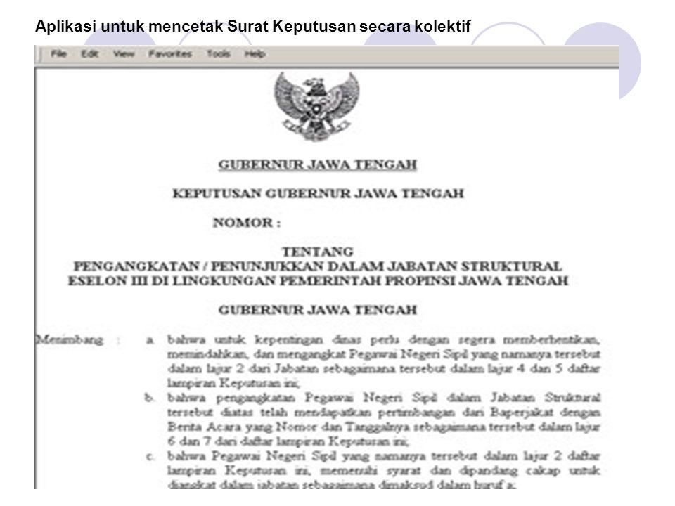 Aplikasi untuk mencetak Surat Keputusan secara kolektif